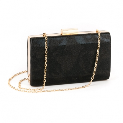 Μαύρο clutch με glitter - ΜΑΥΡΟ 5030