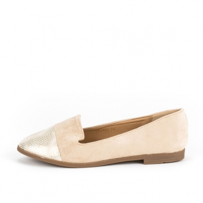 Loafers με συνδυασμό υλικών - ΜΠΕΖ YT-513