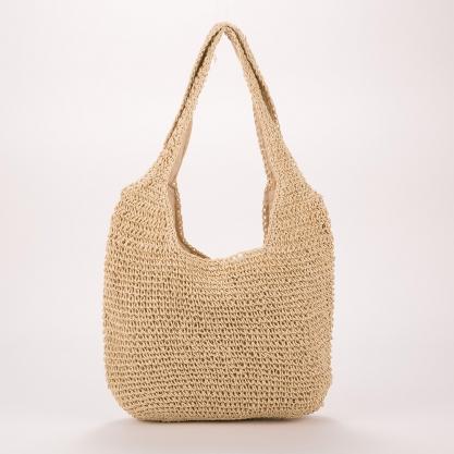 Ψάθινη τσάντα ώμου - ΜΠΕΖ 2105B