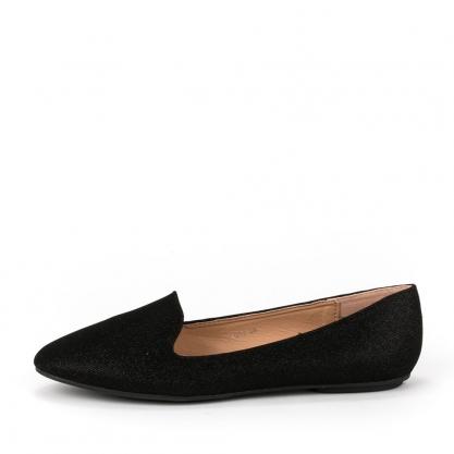 Loafers με glitter - ΜΑΥΡΟ 5259