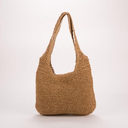Ψάθινη τσάντα ώμου - ΚΑΦΕ 2105B