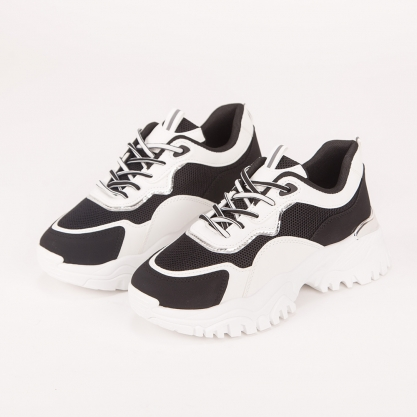 Chunky sneakers με συνδυασμό χρωμάτων
