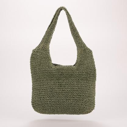 Ψάθινη τσάντα ώμου - ΠΡΑΣΙΝΟ 2105B