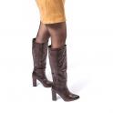 Μπότες με υφή croco