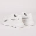 Λευκά sneakers με κροκό λεπτομέρειες