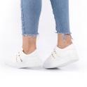 Φλατ sneakers με τρουκς