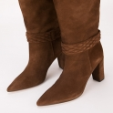 Δερμάτινες  μπότες Paola Ferri με σχέδιο πλέξη