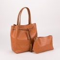 Κροκό τσάντα ώμου με λουράκι με κρόσσια