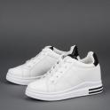 Λευκά sneakers με κρυφό τακούνι