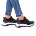 Mαύρα sneakers  με λάστιχο