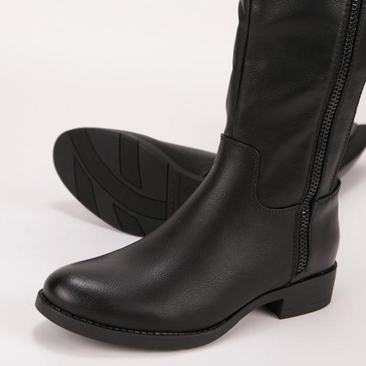 Μπότες ιππασίας με  εξωτερικό φερμουάρ
