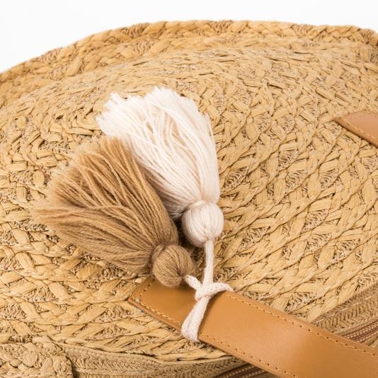 Ψάθινη στρογγυλή τσάντα