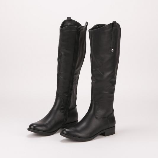Μπότες ιππασίας με μεταλλική λεπτομέρεια