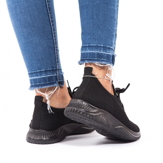 Knit sneakers με κορδόνι