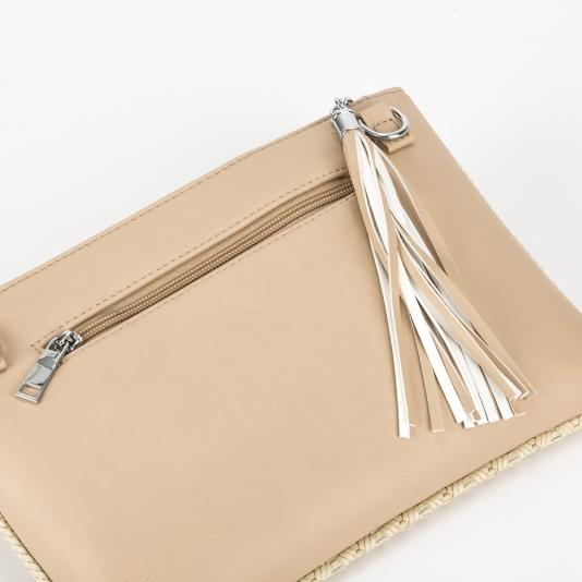 Τσάντα φάκελος με πλεκτό σχέδιο