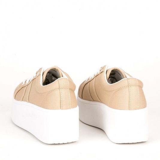 Sneakers με πλατφόρμα πάνινα