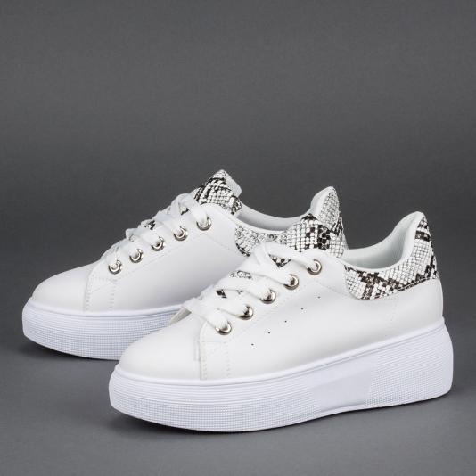 Δίσολα sneakers με συνδυασμό υλικών