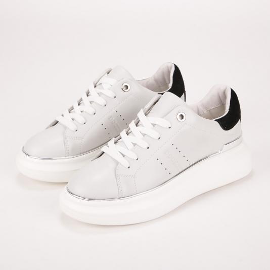 Λευκά δερμάτινα sneakers Docksteps