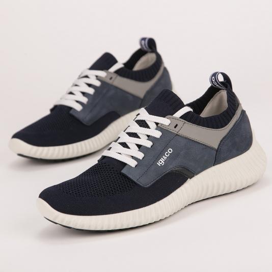Ανατομικά μπλε sneakers IGI&CO