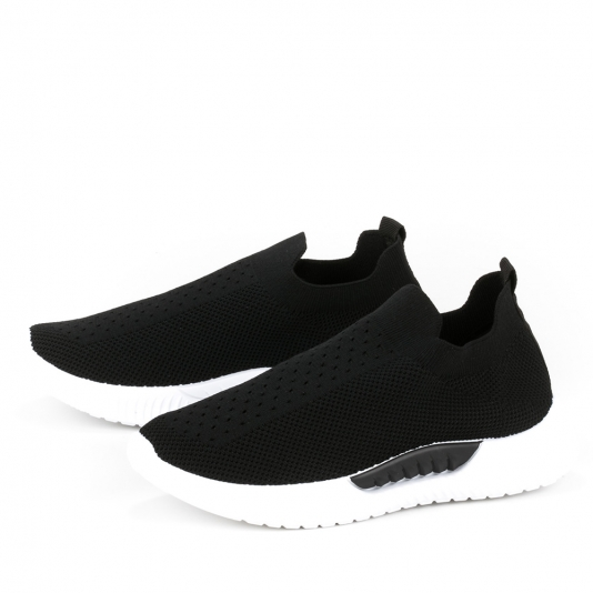 Slip on sneakers με διχρωμία στη σόλα