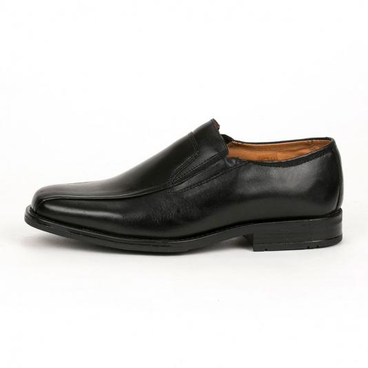Μαύρα δερμάτινα loafers