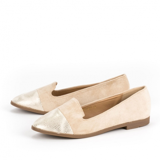 Loafers με συνδυασμό υλικών