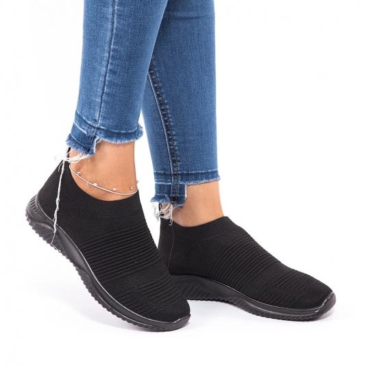 Μαύρα slip-on sneakers