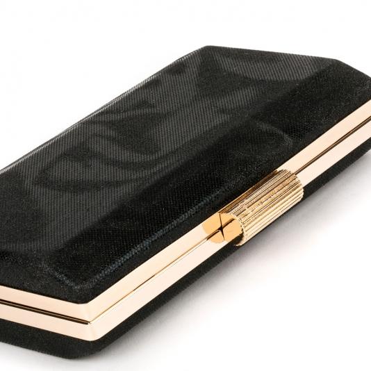 Μαύρο clutch με glitter
