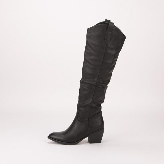 Μαύρες western look μπότες