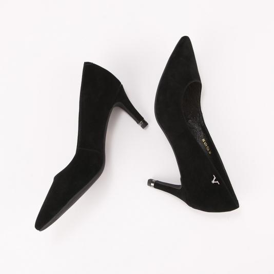 Μαύρες suede γόβες Versace 1969