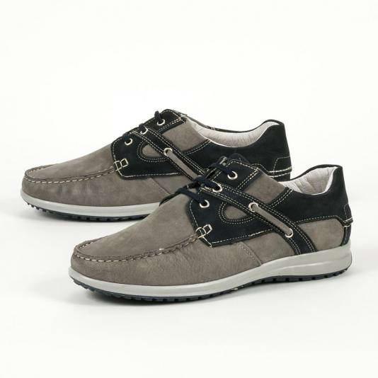 Δερμάτινα παπούτσια με διχρωμία