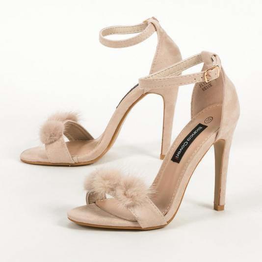 Ankle strap ψηλοτάκουνα πέδιλα