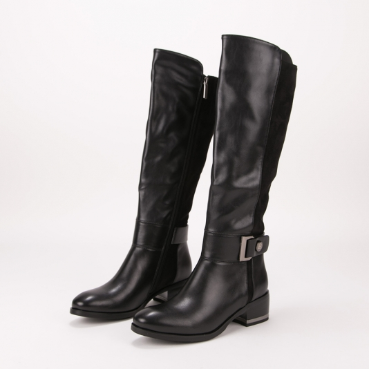 Μπότες Laura Biagiotti με συνδυασμό υλικών