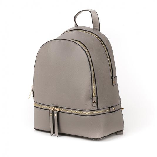 Τσάντα πλάτης με χρυσά φερμουάρ