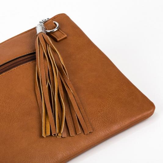 Τσάντα φάκελος με γεωμετρικά σχέδια