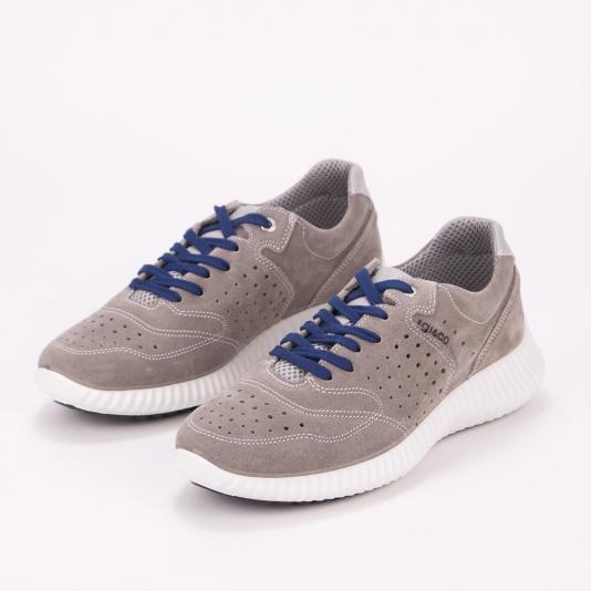 Γκρι δερμάτινα sneakers IGI & CO