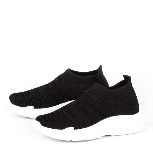 Μαύρα knit sneakers