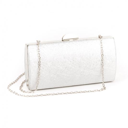 Ασημί clutch bag