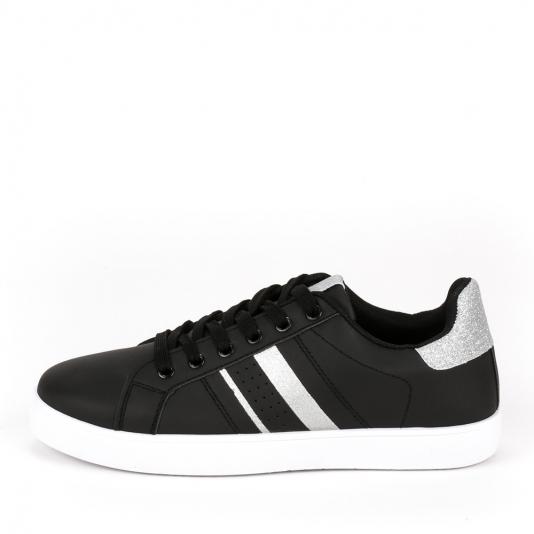 Μαύρα sneakers με glitter