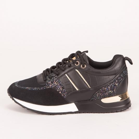 Sneakers με χρυσές λεπτομέρειες και glitter