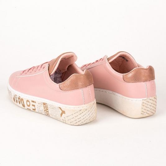Sneakers με τεχνητά φθαρμένη σόλα