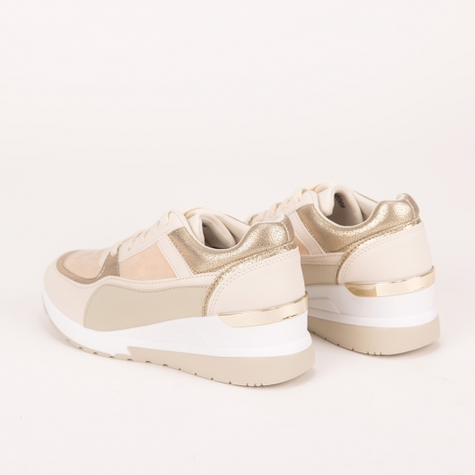 Sneakers πλατφόρμα με συνδυασμό υλικών
