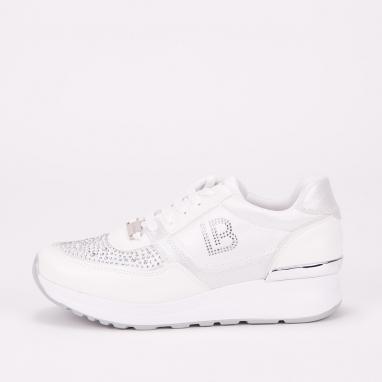 Sneakers Laura Biagiotti με πλατφόρμα και στρας