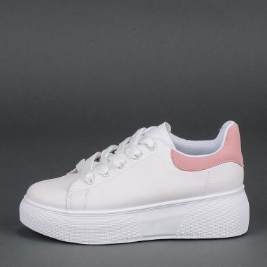 Δίσολα sneakers με ροζ λεπτομέρεια