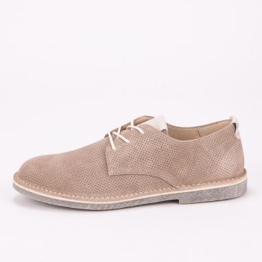 Μπεζ suede δετά παπουτσια IGI & CO
