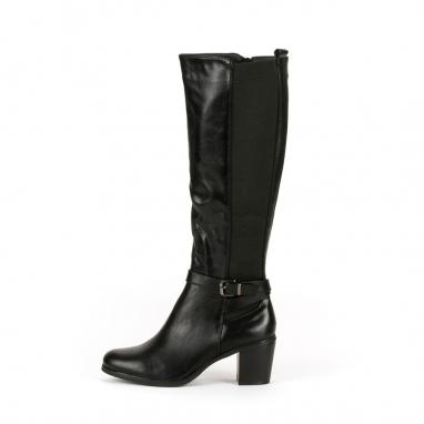 Μαύρες casual μπότες με λάστιχο