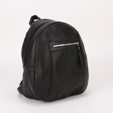 Μαύρη τσάντα πλάτης με διάτρητο σχέδιο