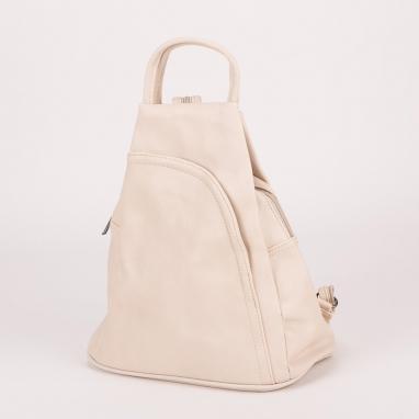 Μπεζ τσάντα πλάτης με ιδιαίτερο σχέδιο