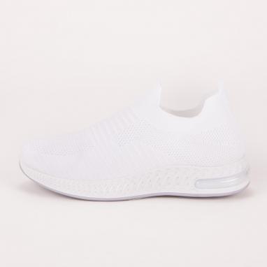 Λευκά knit sneakers με αερόσολα