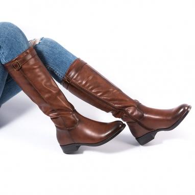 Φλατ μπότες με λουράκι